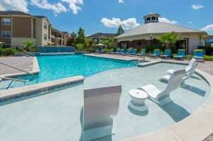 Apartments for Rent in Katy, TX - Pool with Close-Up of Tanning Shelf